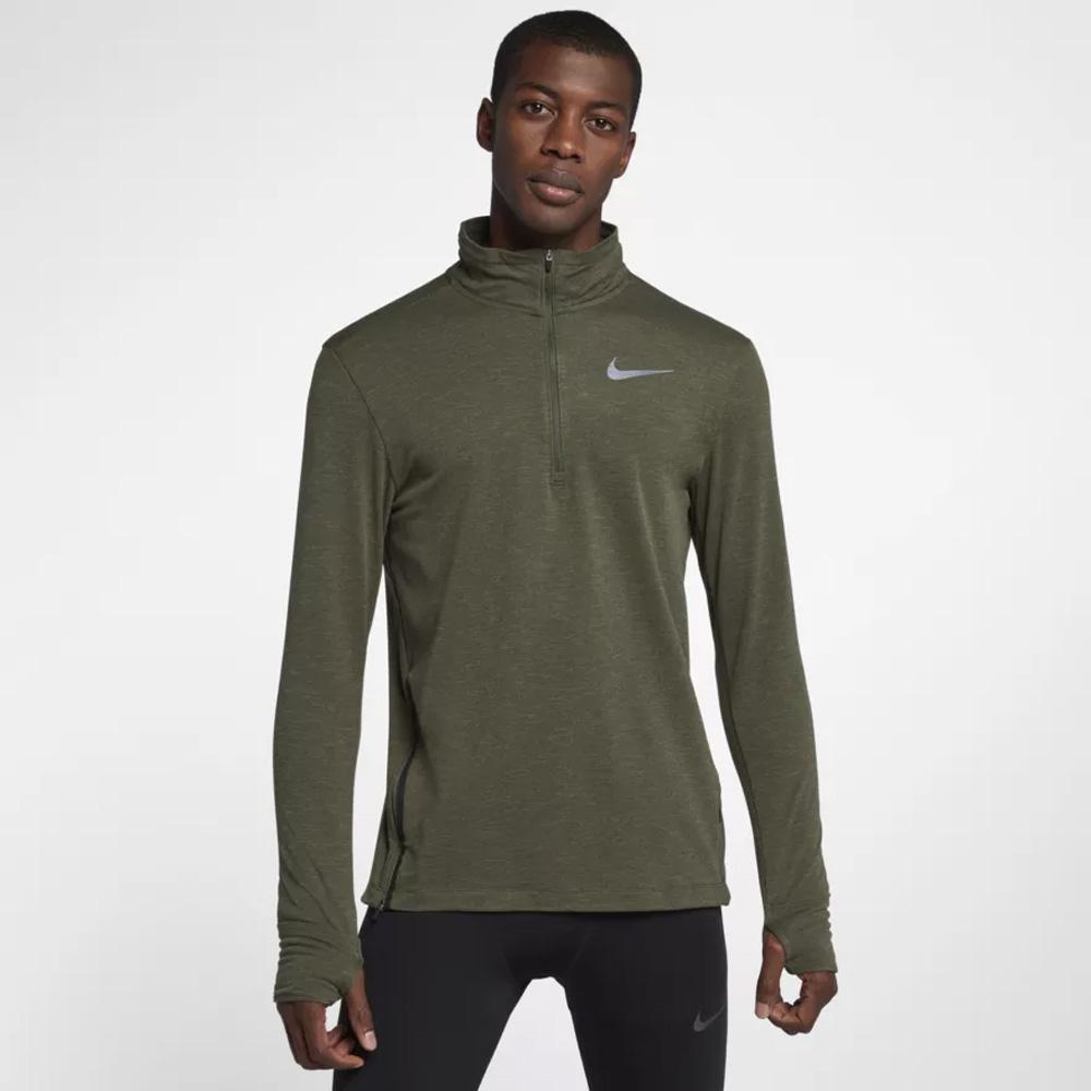 7f2b107d Nike Men's Therma-Sphere Element Half-Zip Running Top- Olive | Mens ...